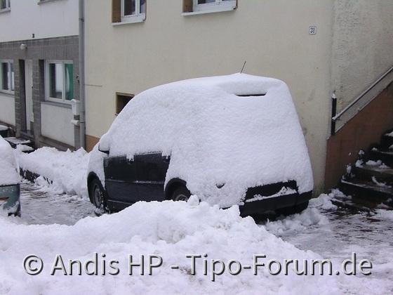 Winter 2010 ca. 50cm Schnee über Nacht