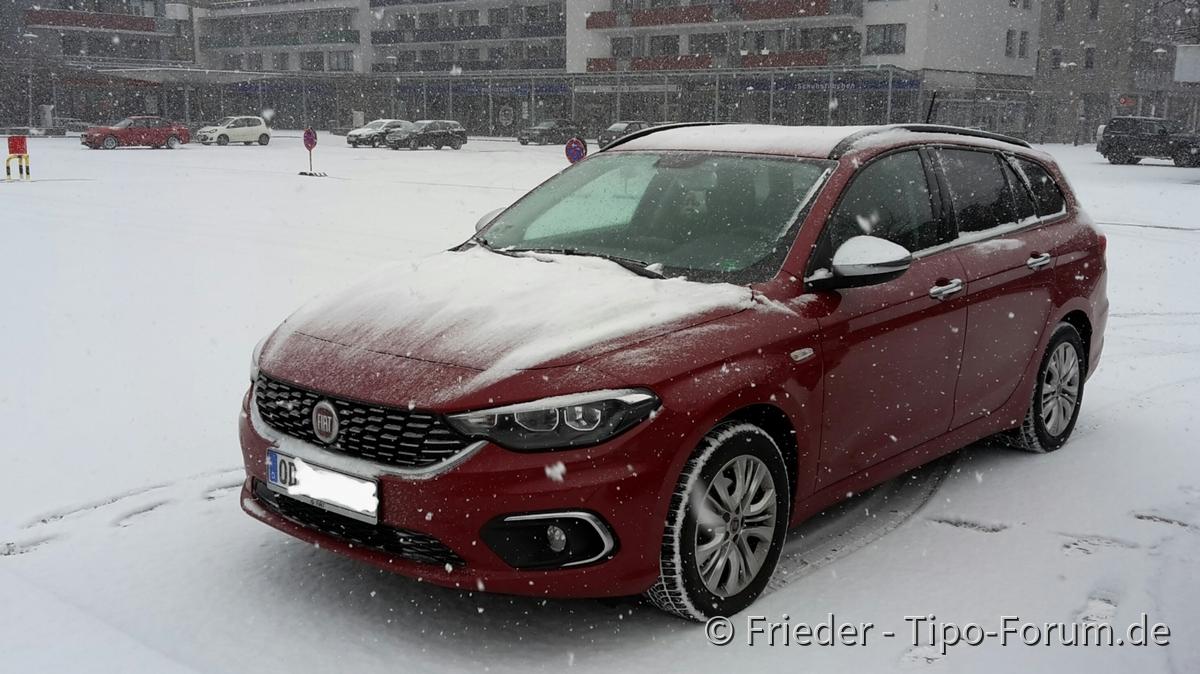 Ein Tipo im Schnee...