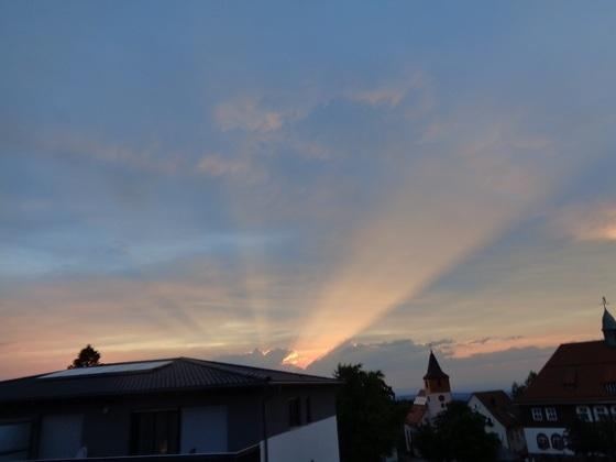 toller Sonnenuntergang auf´m Dobel